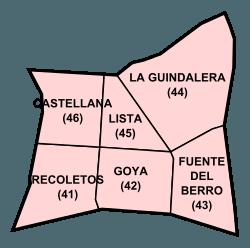 Barrios del distrito Salamanca